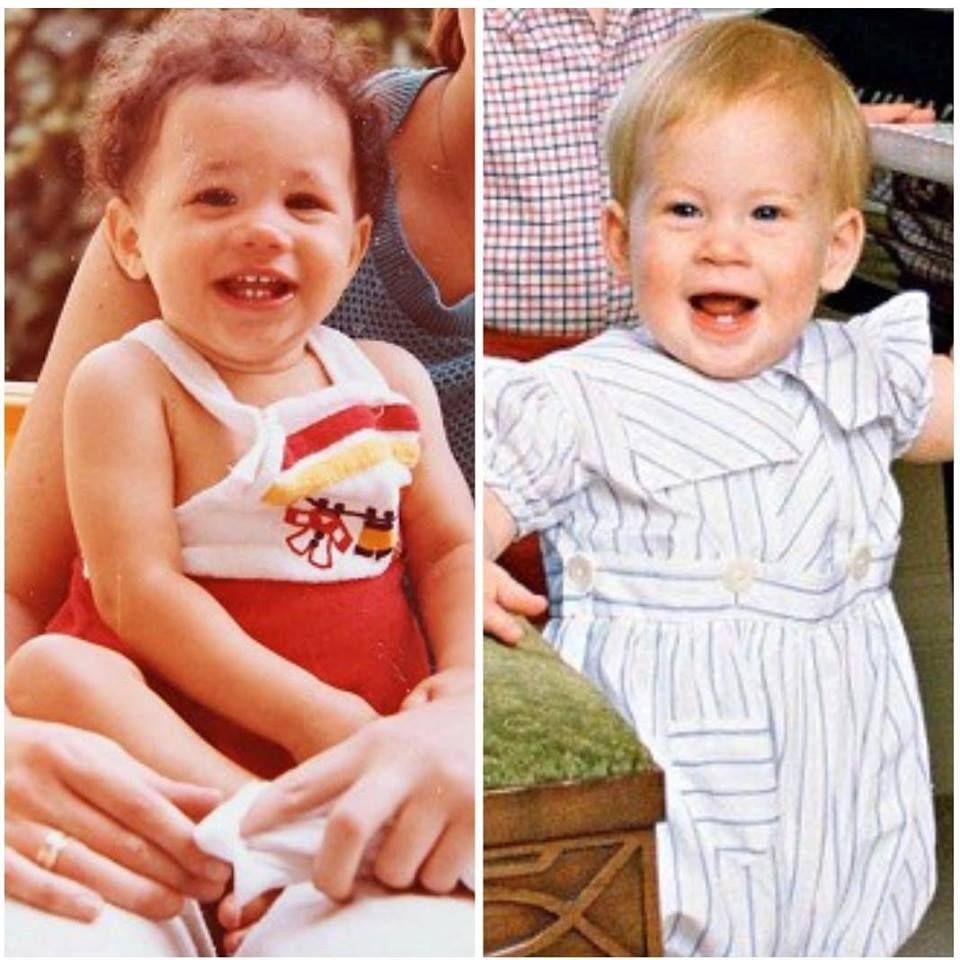 Fãs usam fotos de Meghan e Harry em criança para prever rosto do bebé