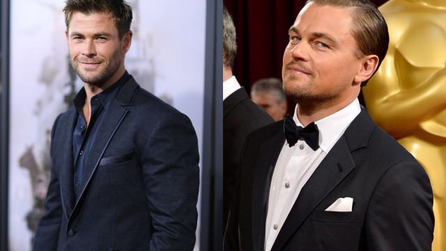 Chris Hemsworth foi ignorado por Leonardo DiCaprio... mais que uma vez