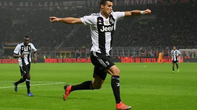 Golo de Ronaldo vale entrada direta na história da Juventus