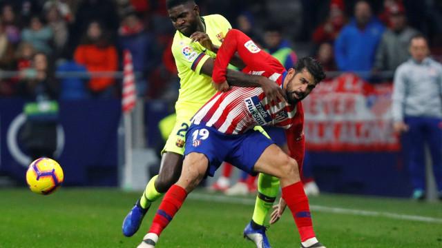 Dembelé 'salva' o Barça em Madrid, mas a liderança está em risco