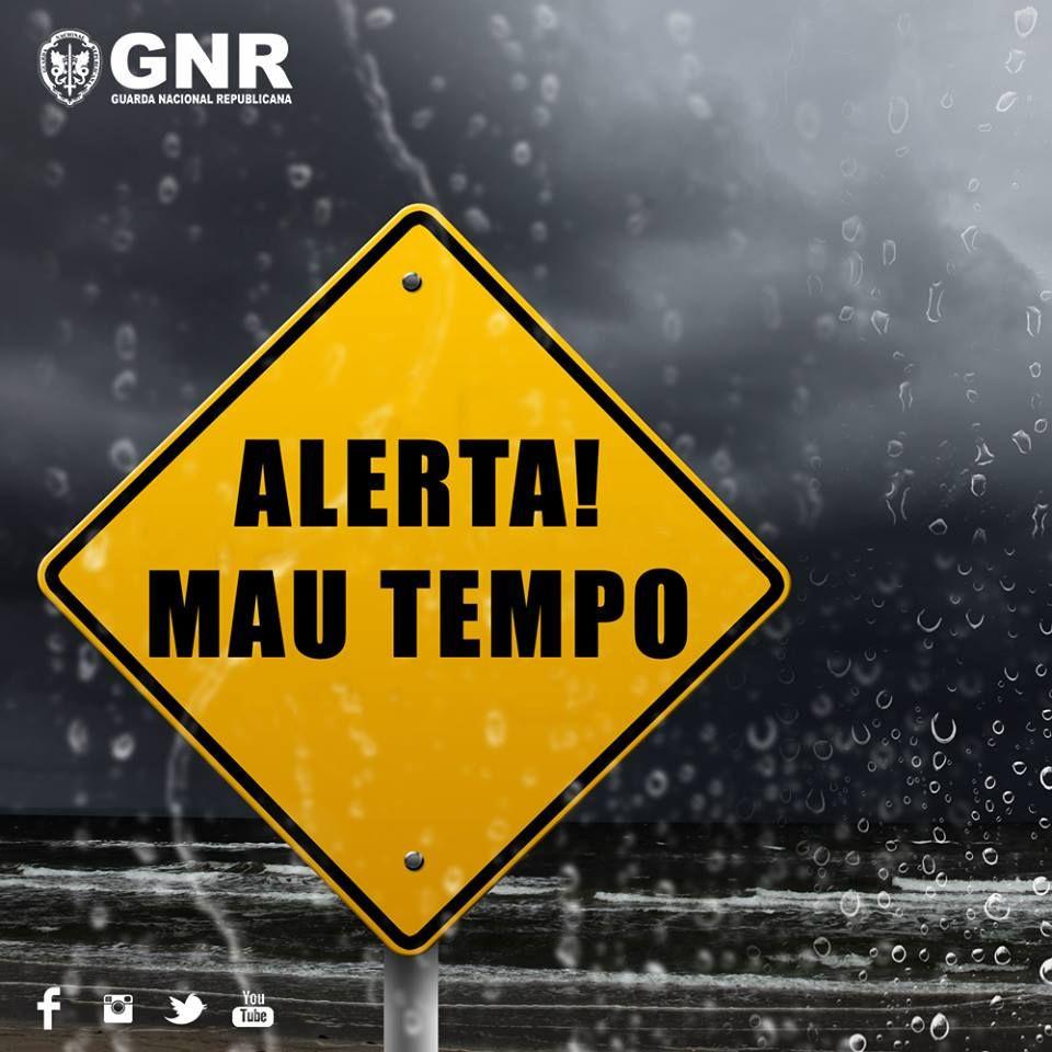 Vem aí mau tempo. Considere estes conselhos da GNR