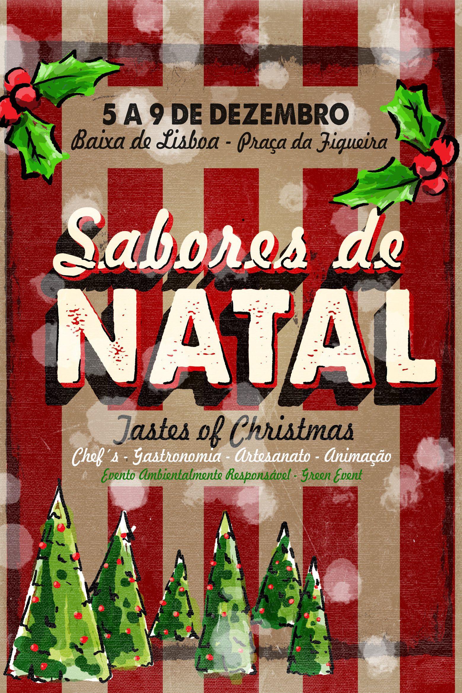 Venha visitar o Mercado Sabores de Natal na Baixa de Lisboa