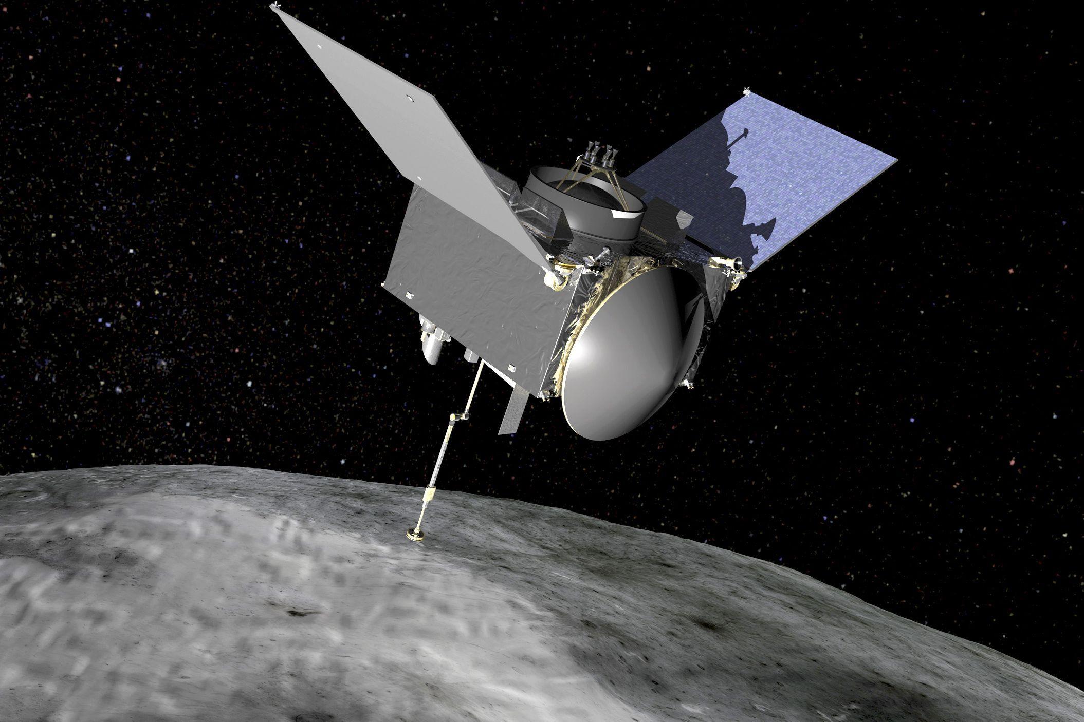 Sonda espacial chega perto de asteroide para recolher amostra