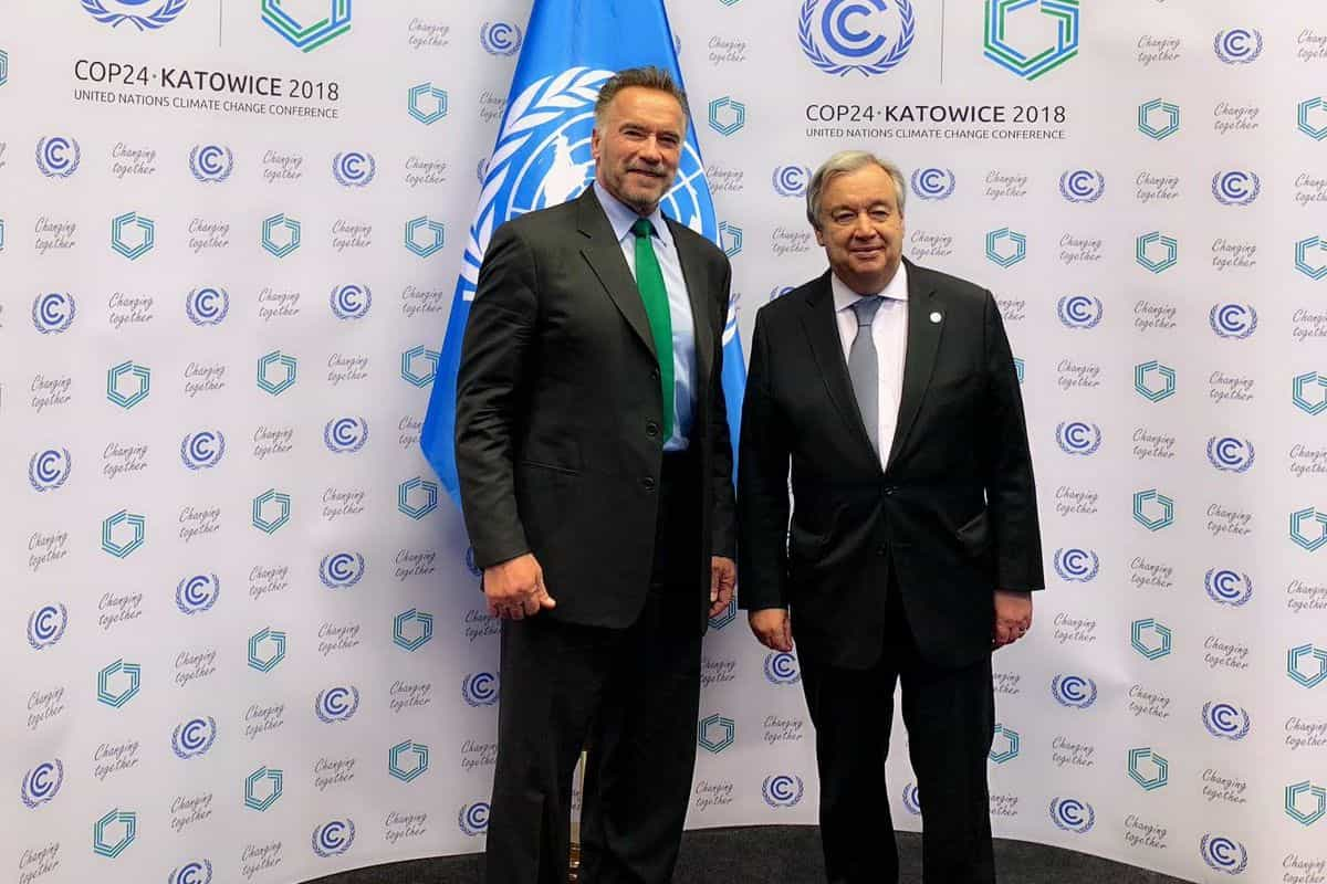 António Guterres e Arnold Schwarzenegger unidos para ajudar o clima