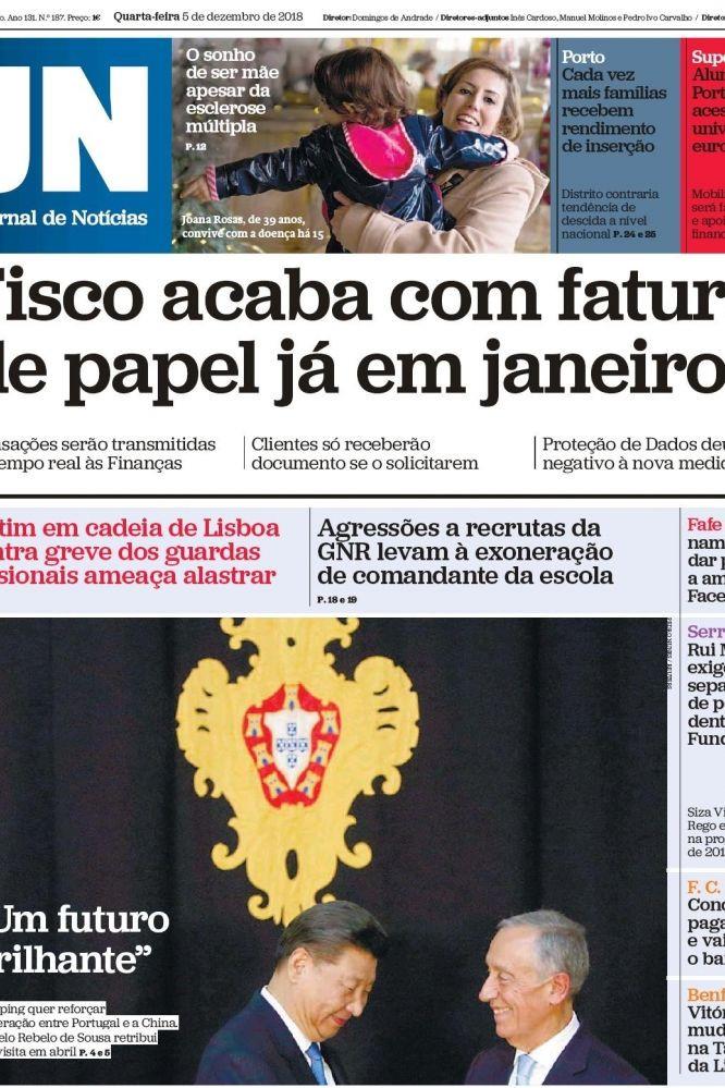 """Hoje é notícia: Adeus, """"faturas em papel"""" e """"Parlamento fora de controlo"""""""
