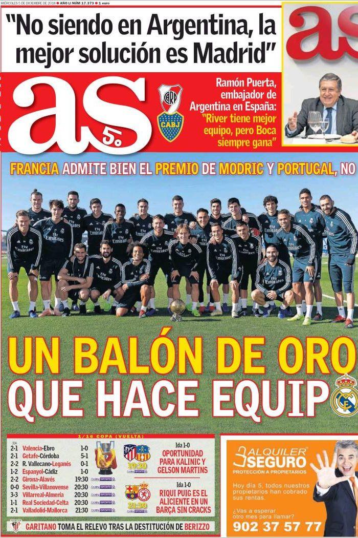 Lá fora: A Bola de Ouro feita por uma equipa e o recado de Mourinho