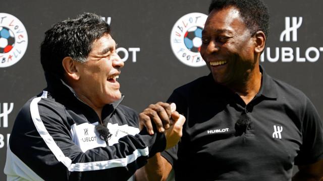 """Pelé sem papas na língua: """"Maradona melhor que Messi? Foi. Muito melhor"""""""