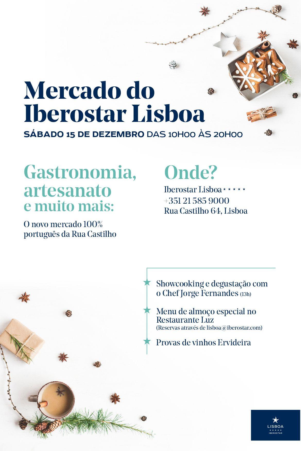Iberostar Lisboa Market: Viver o espírito natalício na Rua Castilho