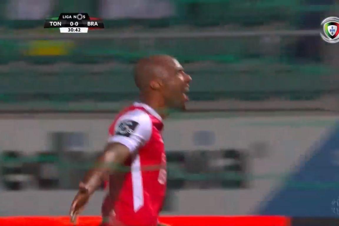Wilson Eduardo desfez o nulo no Tondela-Sp. Braga com este golaço