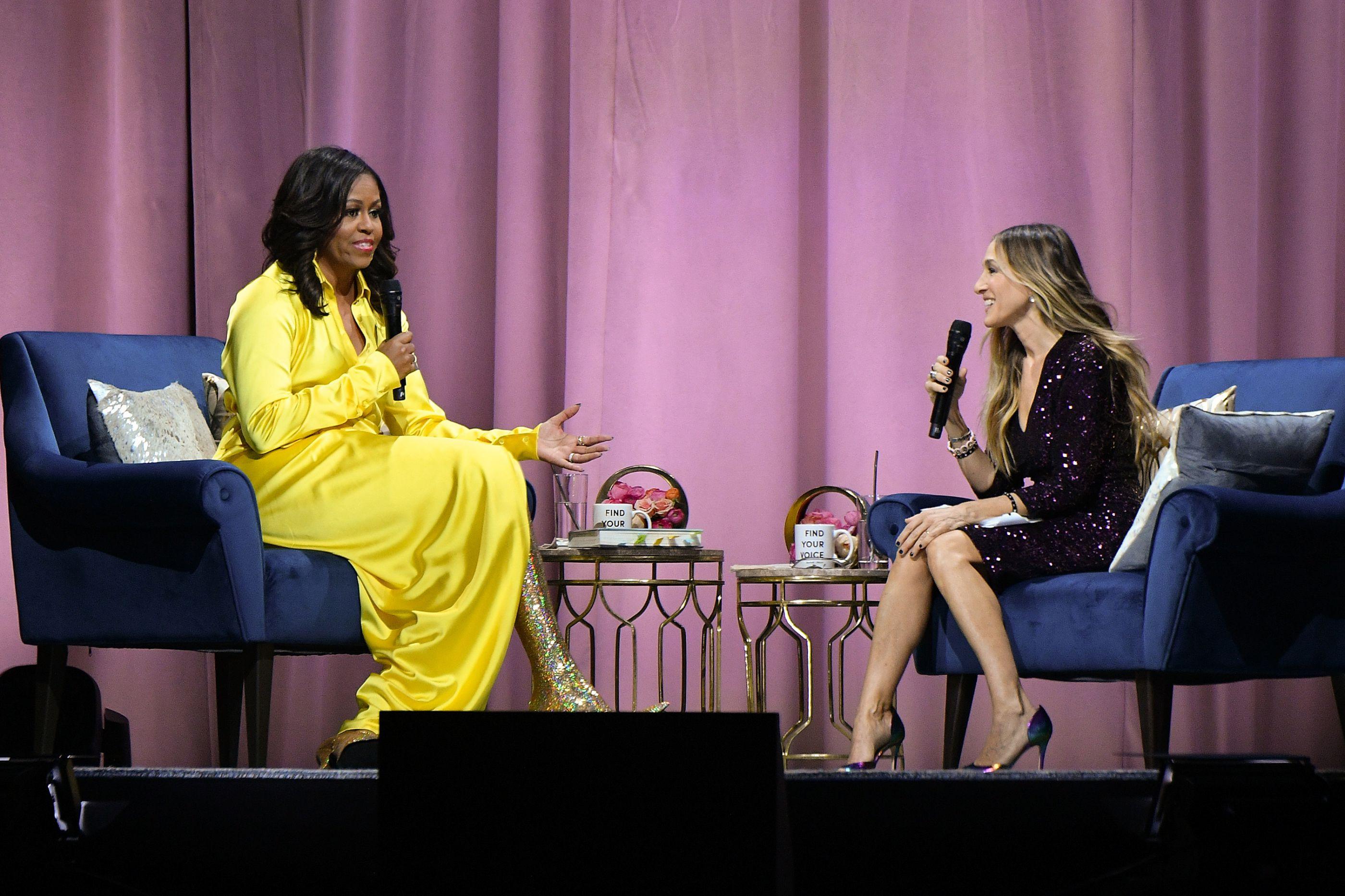 Brilhos e cores fortes. Michelle Obama mais excêntrica do que nunca!