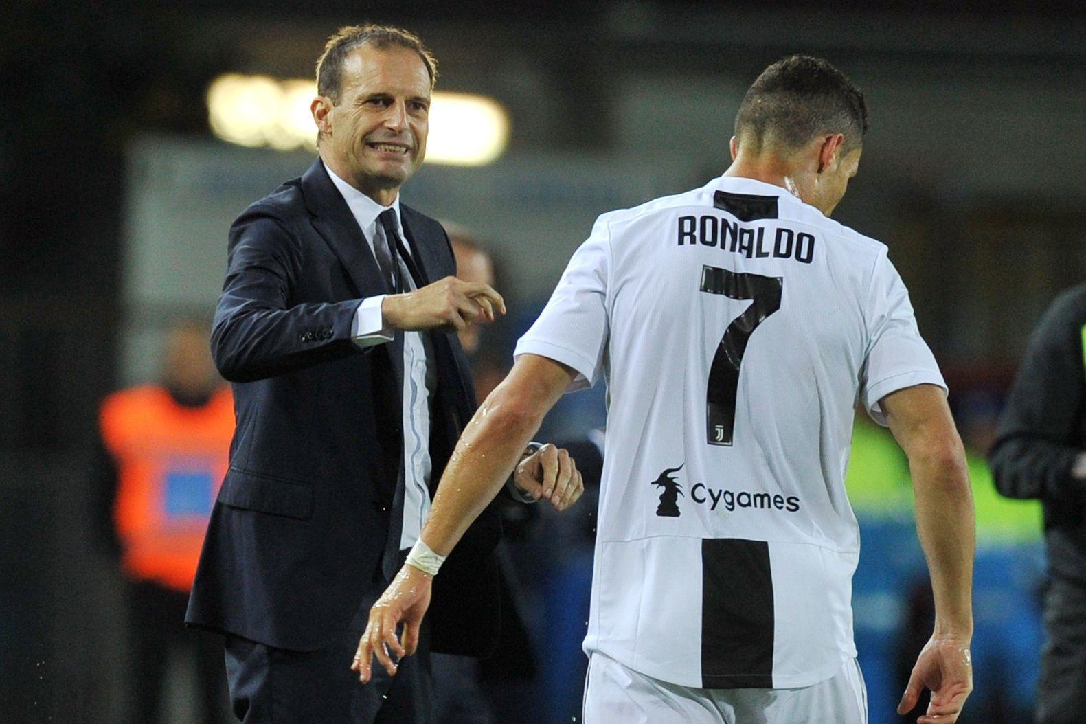 """Allegri aborda tema Ronaldo: """"Claro que está desiludido"""""""