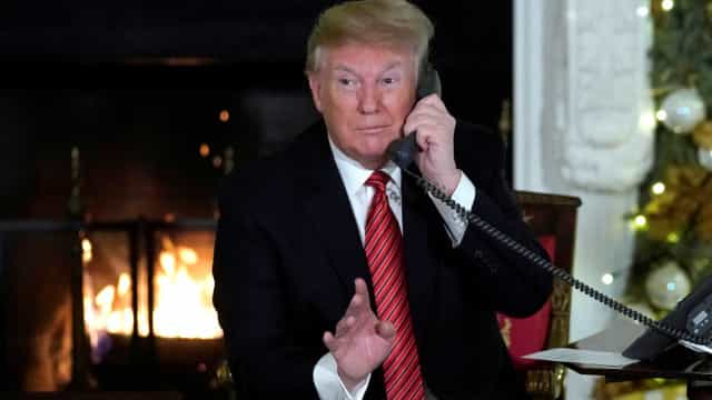 Apesar de telefonema de Trump, menina ainda acredita no Pai Natal