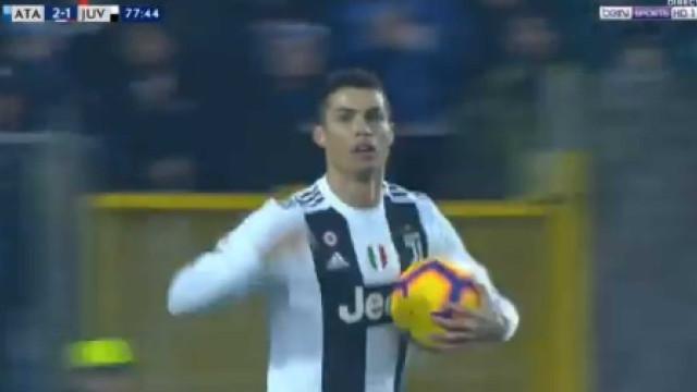 Ronaldo entrou em campo para devolver o empate ao Atalanta-Juventus