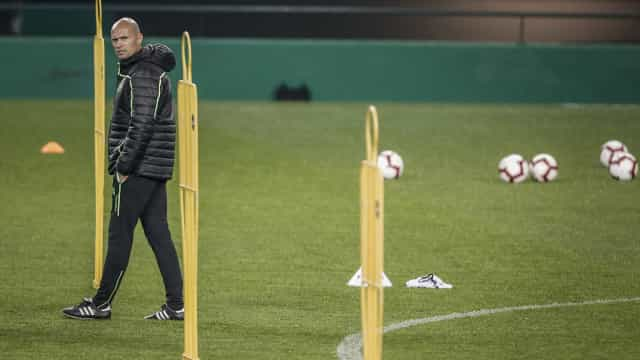 Equipa principal do Sporting empata com os sub-23 em Alcochete
