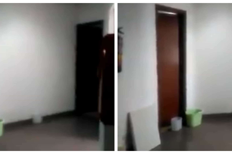 Em Almada 'chove' dentro da esquadra da PSP e há viaturas paradas