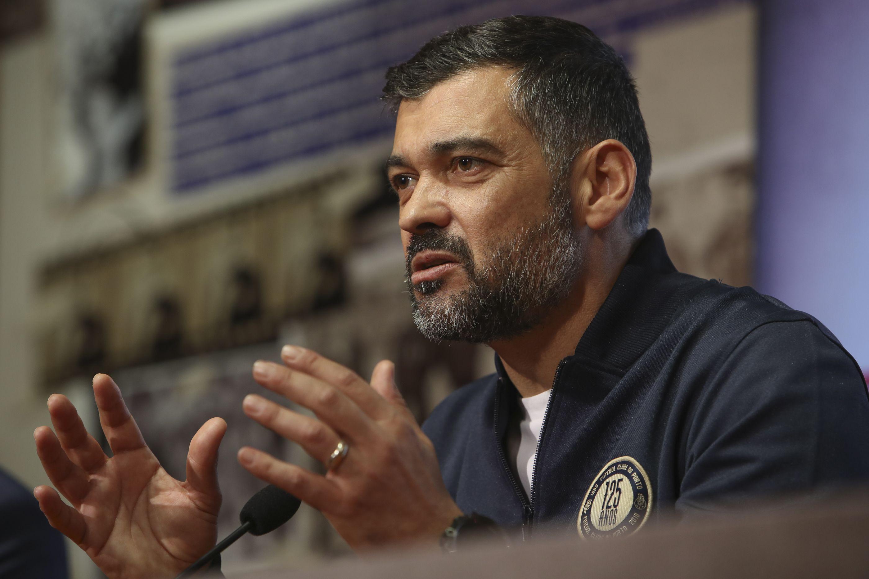 """Sérgio Conceição: Marega, o Moreirense e a """"azia"""" dos pontos"""