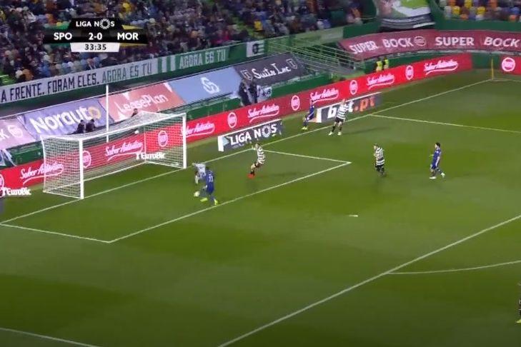 Heriberto reduziu a desvantagem após boa jogada do Moreirense