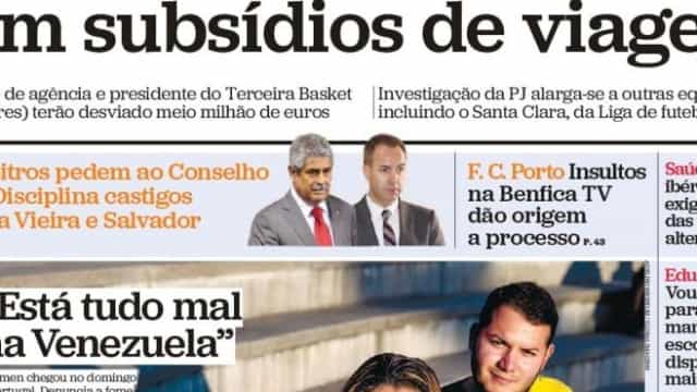 """Hoje é notícia: """"Clubes burlam Estado""""; """"Crimes da Caixa sem castigo"""""""