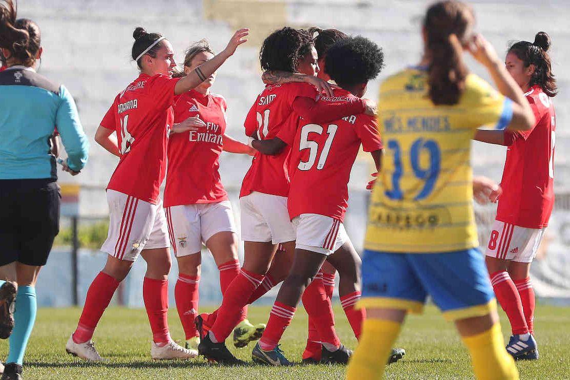Equipa feminina do Benfica bate CP Pego com número histórico de golos