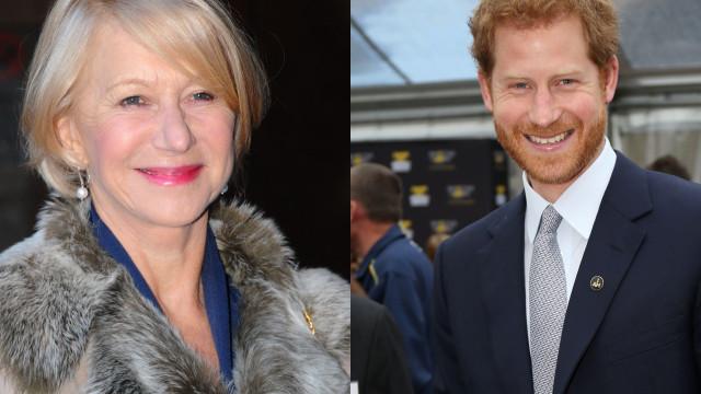 Helen Mirren sentiu-se ofendida com piada do príncipe Harry