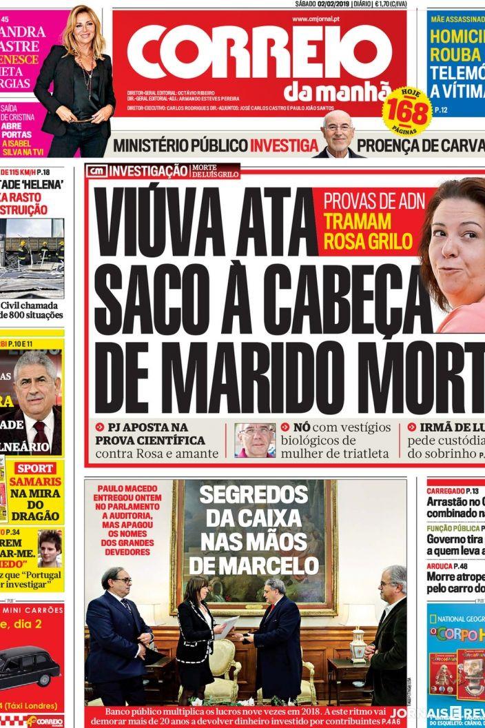 Hoje é notícia: Estado anda a gasóleo; Rosa atou saco à cabeça do marido