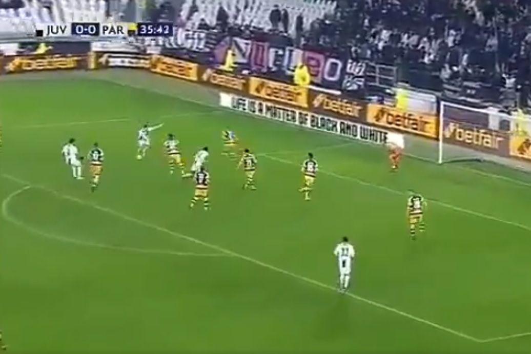 Ronaldo inaugurou assim o marcador no Juventus-Parma