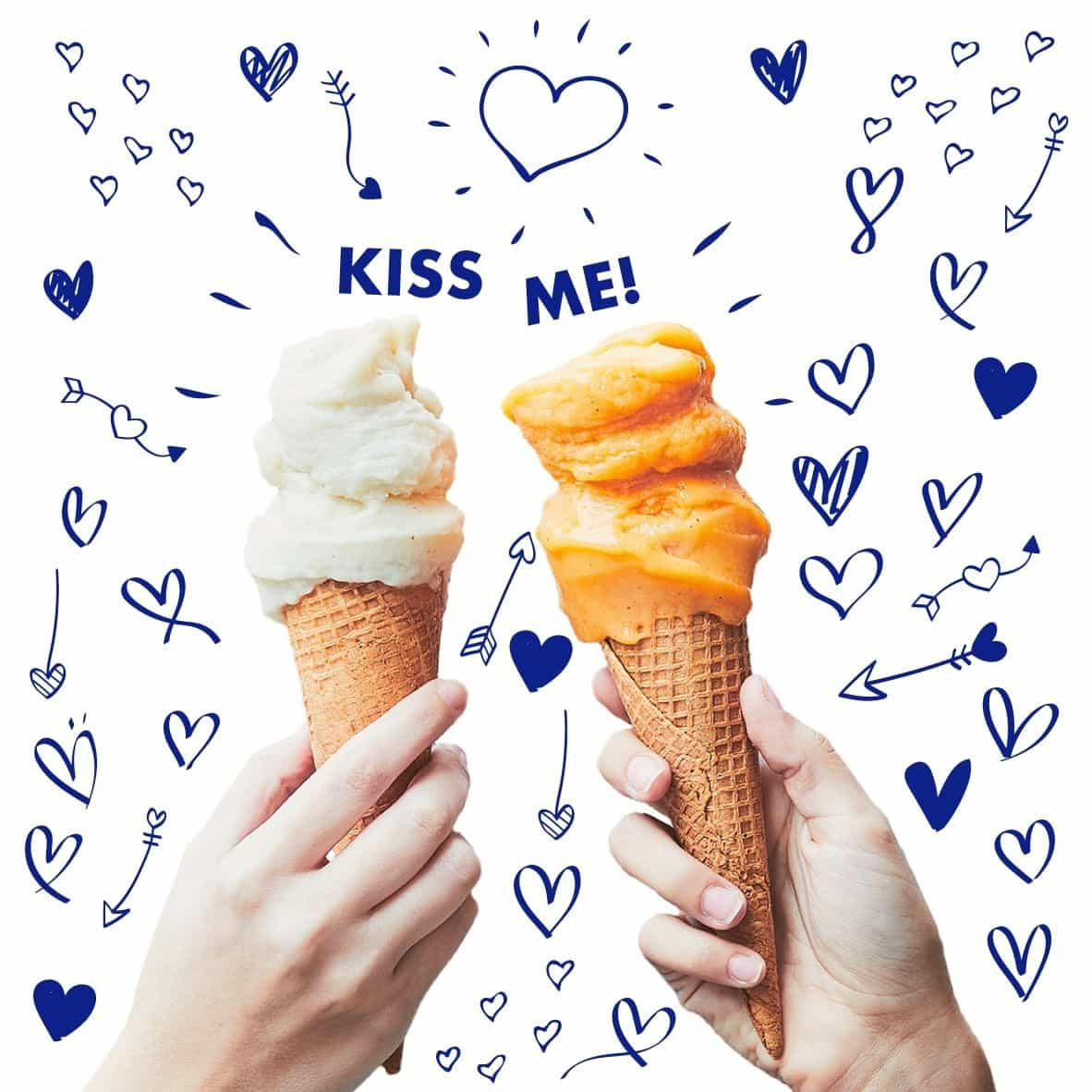 GROM celebra Dia dos Namorados com gelado em troca de beijo