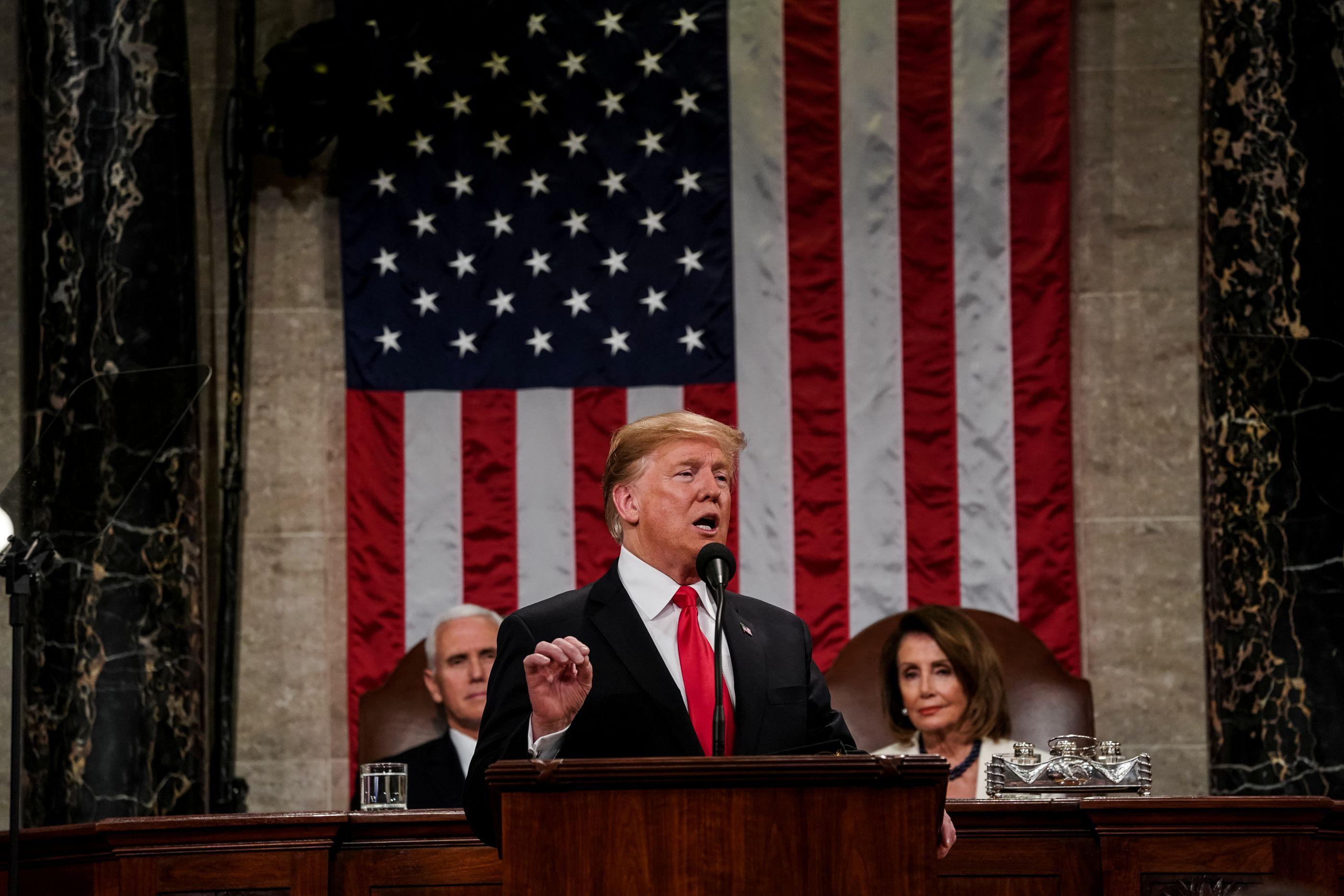 O apelo à união, o muro e a cimeira com Kim. Foi o discurso de Trump