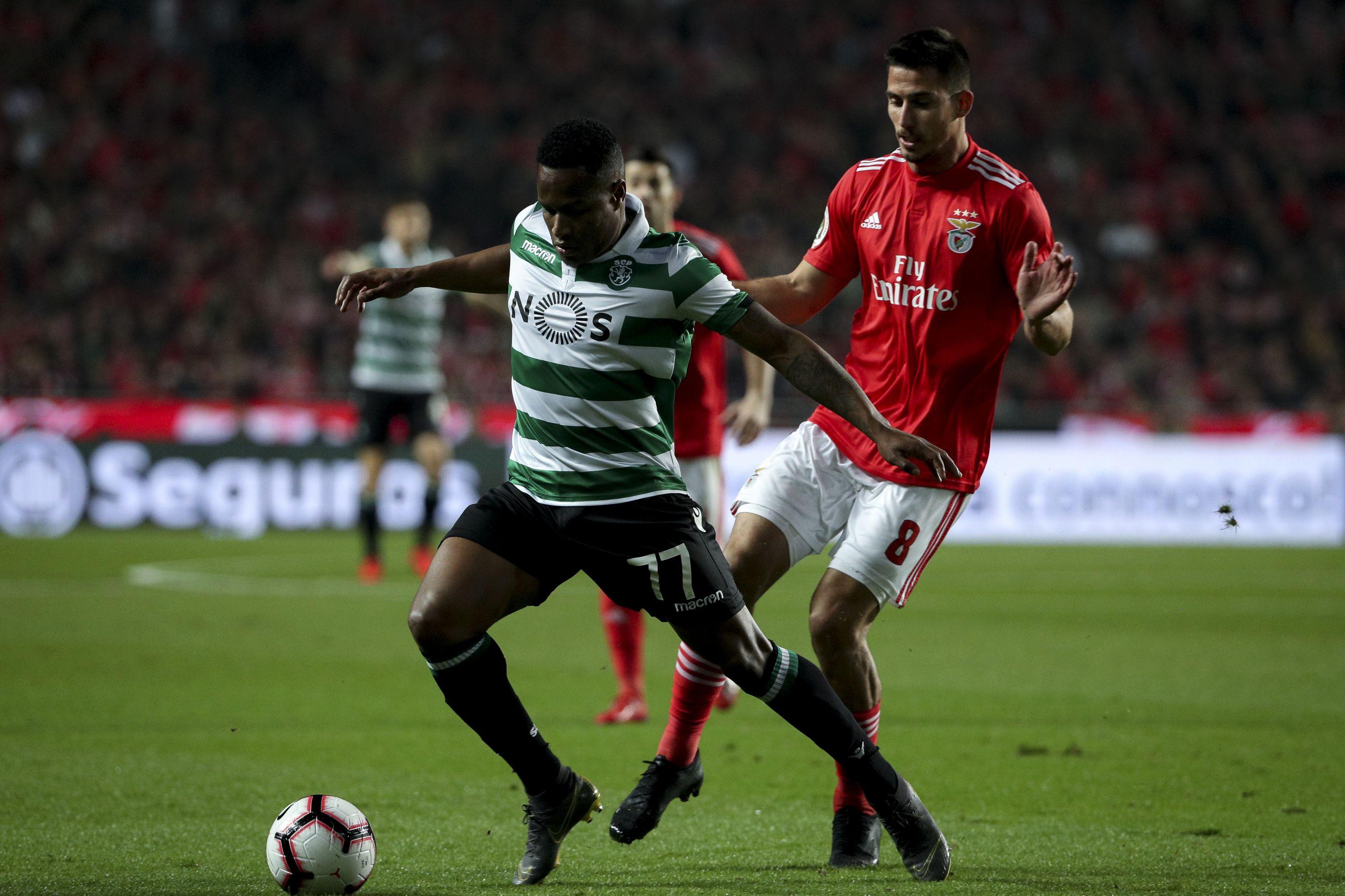 Sporting-Benfica: Jonas no banco. Bruno Gaspar regressa