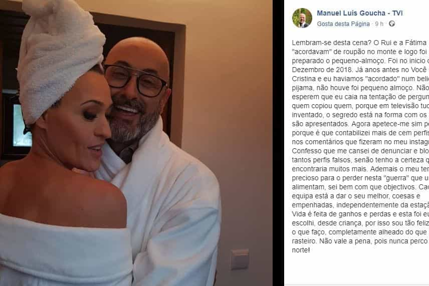 """Acusado de imitar Cristina Ferreira, Goucha reage: """"Quem copiou quem?"""""""