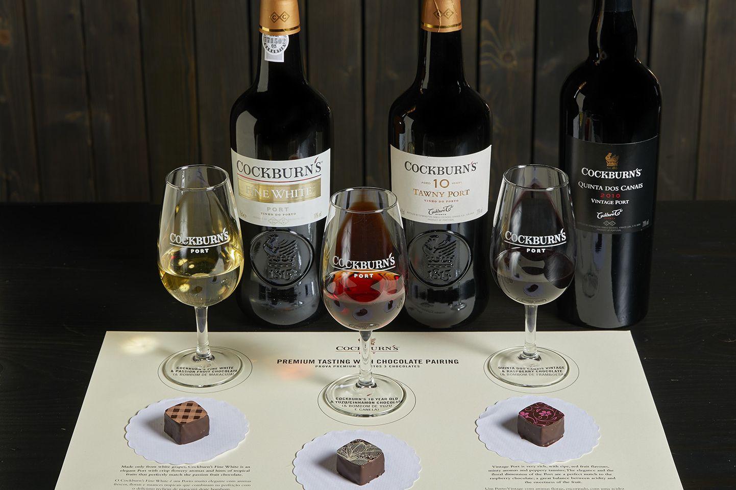 '3 Portos 3 Chocolates' é proposta da Cockburn's para brindar ao amor