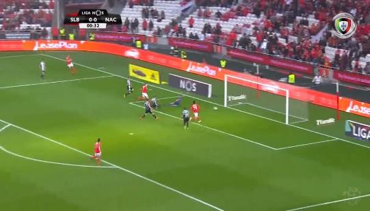 Benfica entra a todo o gás: 33 segundos e golo de Grimaldo