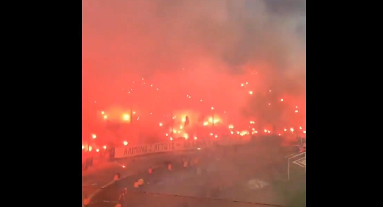 Se nunca viu o inferno, a casa do PAOK deixou hoje o exemplo do que será