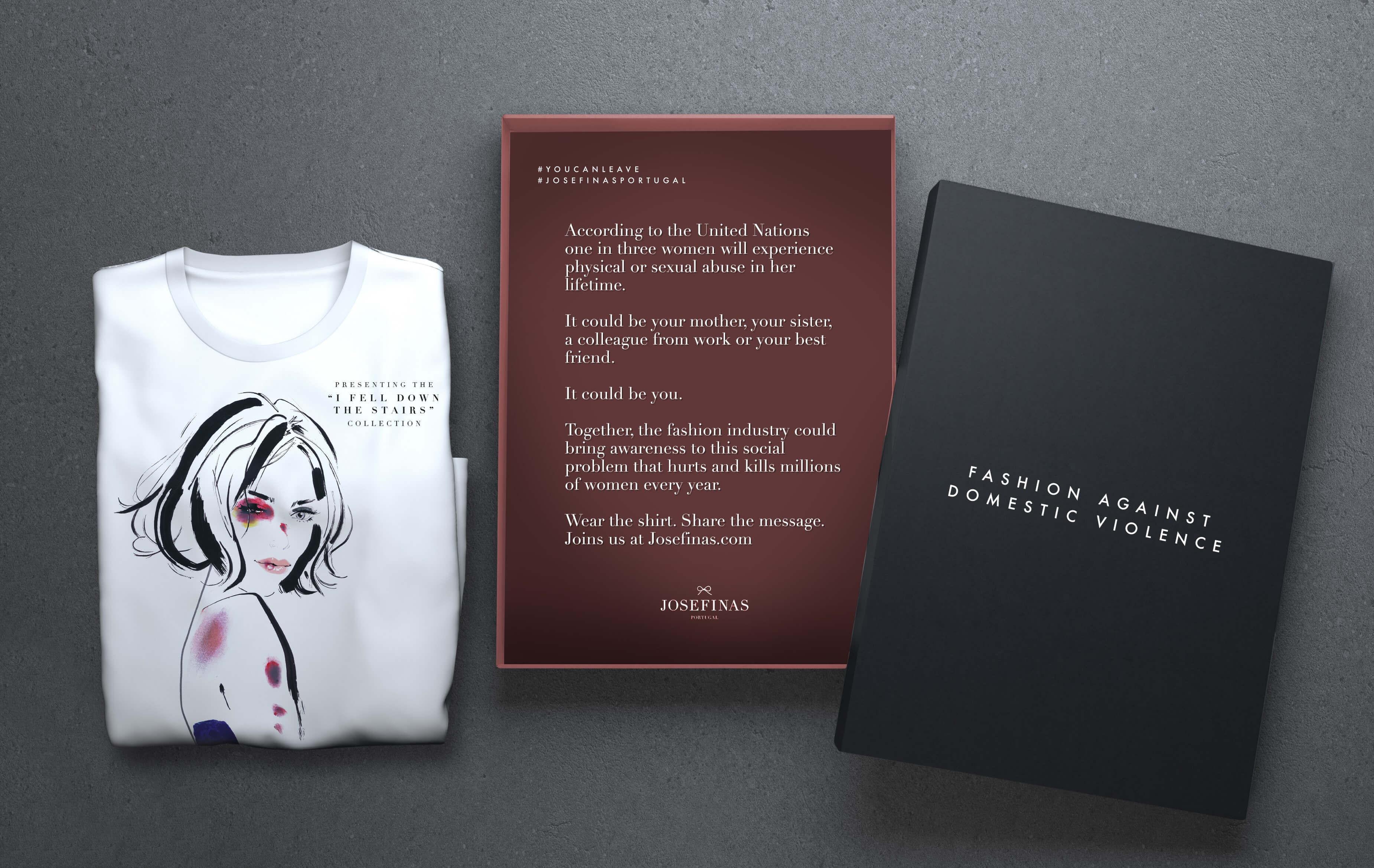 Marque uma posição. Uma t-shirt que pode salvar a vida de uma mulher