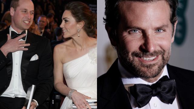 A curiosa conversa entre o príncipe William e Bradley Cooper nos BAFTA