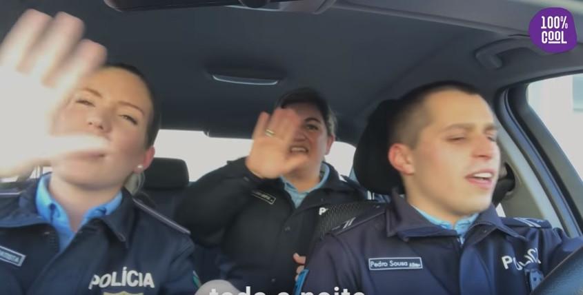 Agentes da PSP cantam 'toda a noite' no combate à sinistralidade