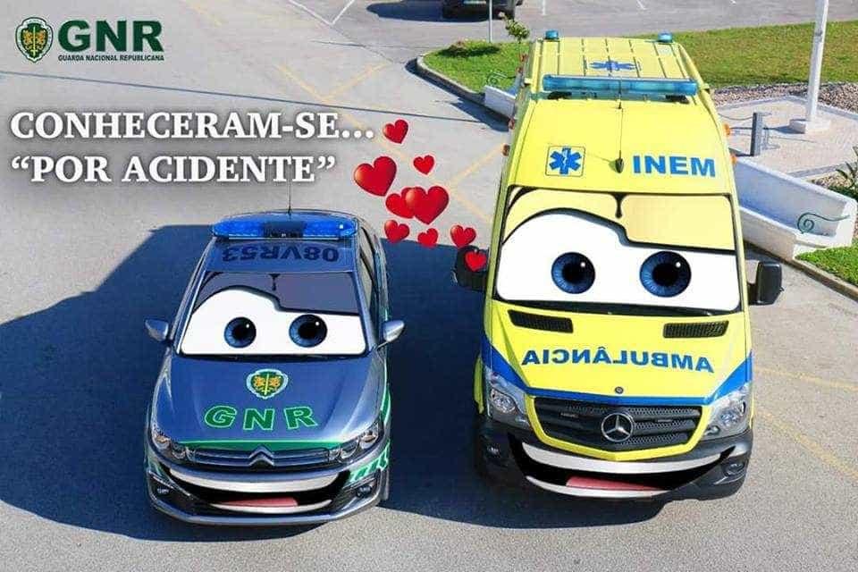 """""""Conheceram-se por acidente"""". A mensagem da GNR para o Dia dos Namorados"""