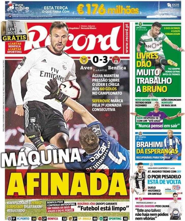 """Por cá: Benfica """"em alta"""" e com """"máquina afinada"""""""