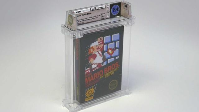 Cartucho novo de 'Super Mario Bros.' vendido por mais de 100 mil dólares