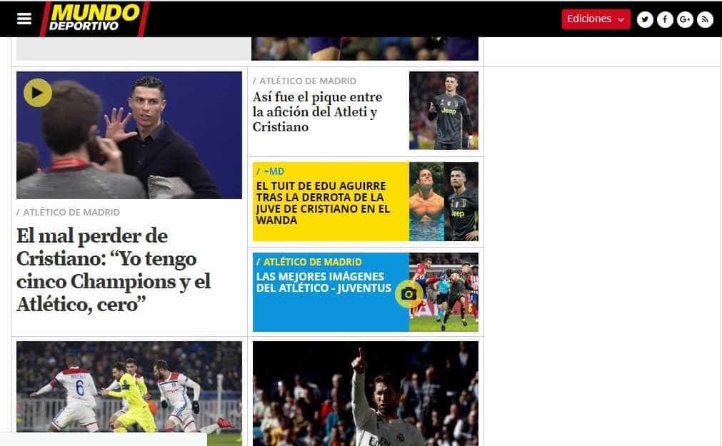 """Imprensa mundial arrasa prestação de CR7: """"Abismo"""" e """"mau perder"""""""