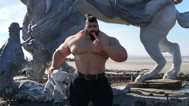 Hulk iraniano: As imagens da tremenda evolução de Sajad Gharibi