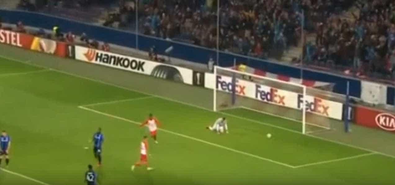 Médio do Salzburgo nem precisou de Red Bull para disparar este 'golaço'