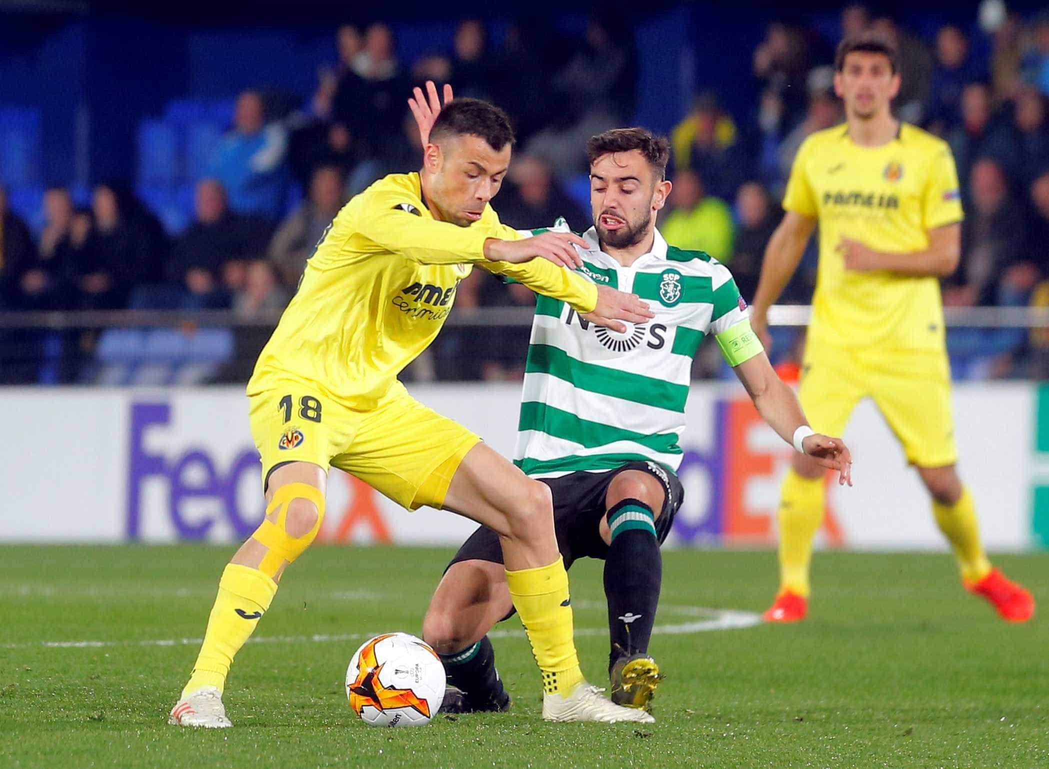 [0-1] Villarreal-Sporting: Expulsão. Segundo amarelo para Jefferson