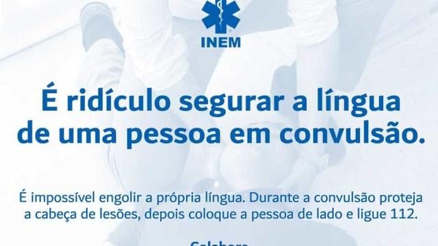 """INEM alerta: """"É ridículo segurar a língua de uma pessoa em convulsão"""""""