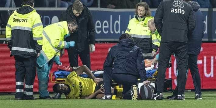 Queda de jogador holandês obrigou à suspensão do encontro