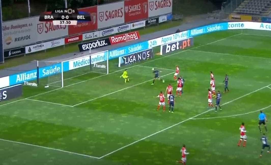Kikas fez o primeiro do Belenenses frente ao Sp. Braga