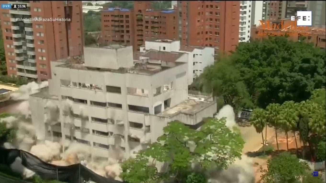 Demolido edifício Mónaco, primeiro quartel-general de Pablo Escobar
