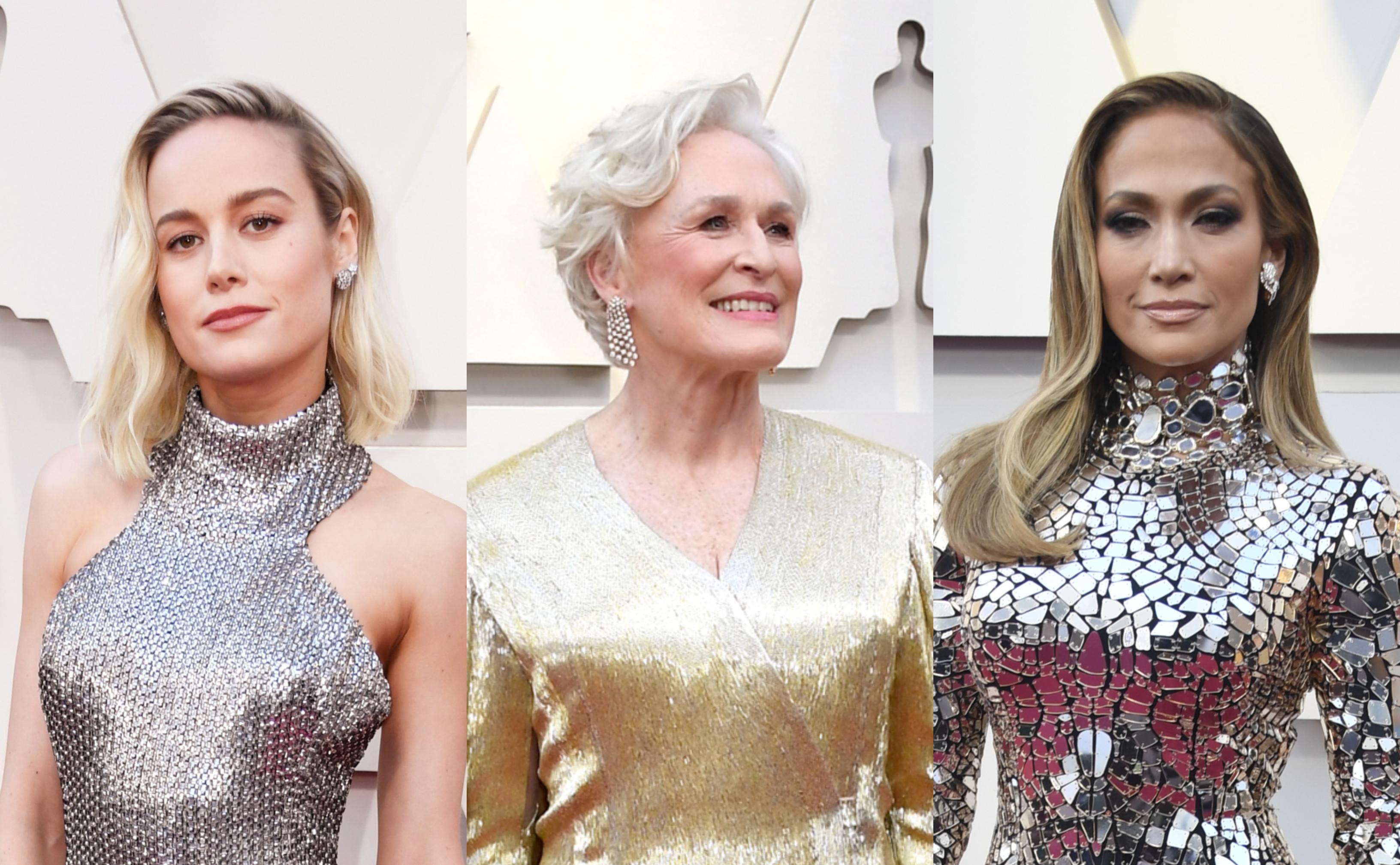 As celebridades que apostaram no visual metálico nos Óscares