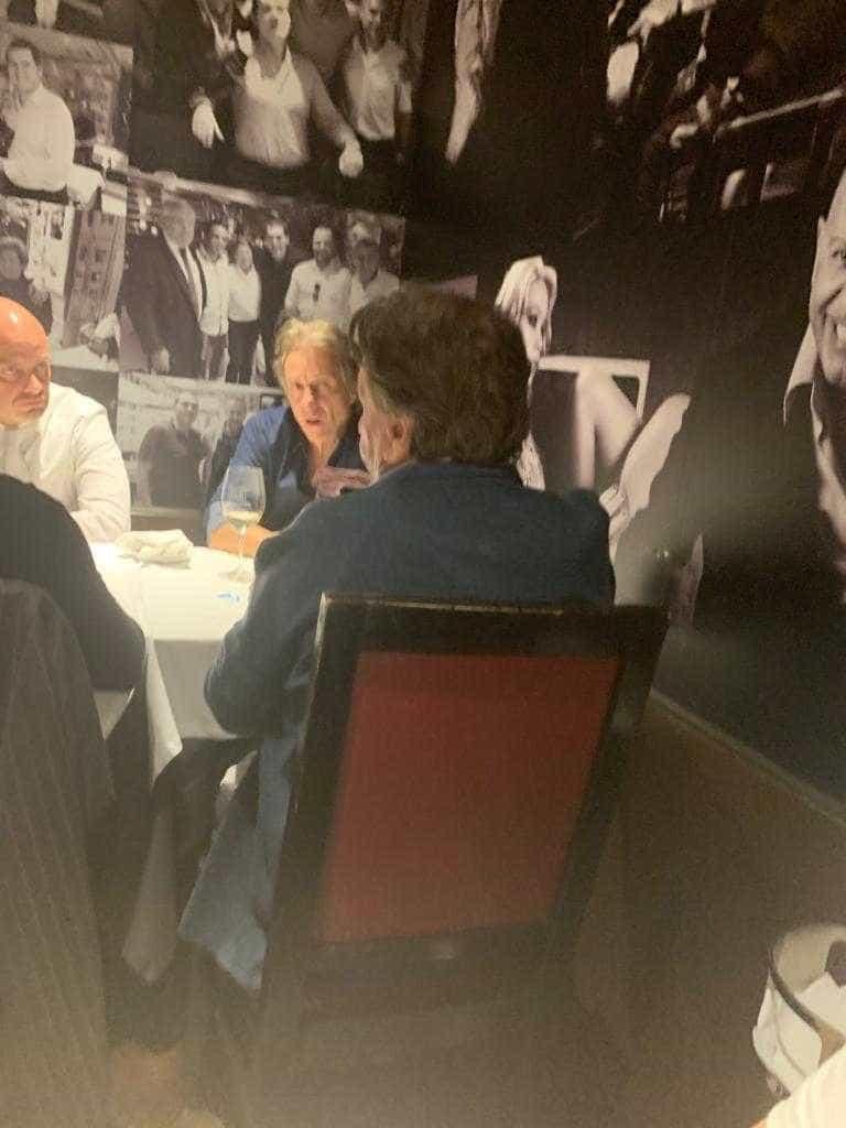 Jorge Jesus reunido com emissários de um clube italiano em Lisboa