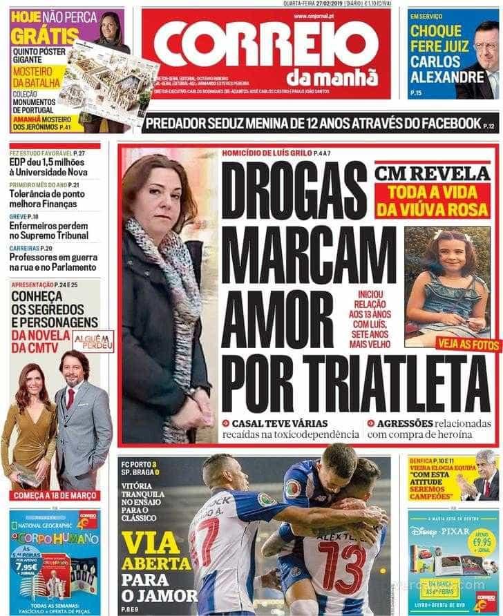 Hoje é notícia: Erro tira mama a mulher; Drogas marcam amor de Rosa Grilo